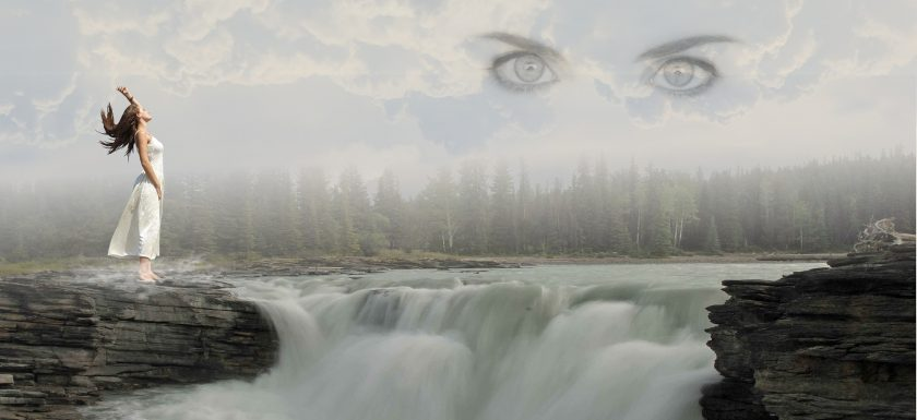 Picture of eyes in sky