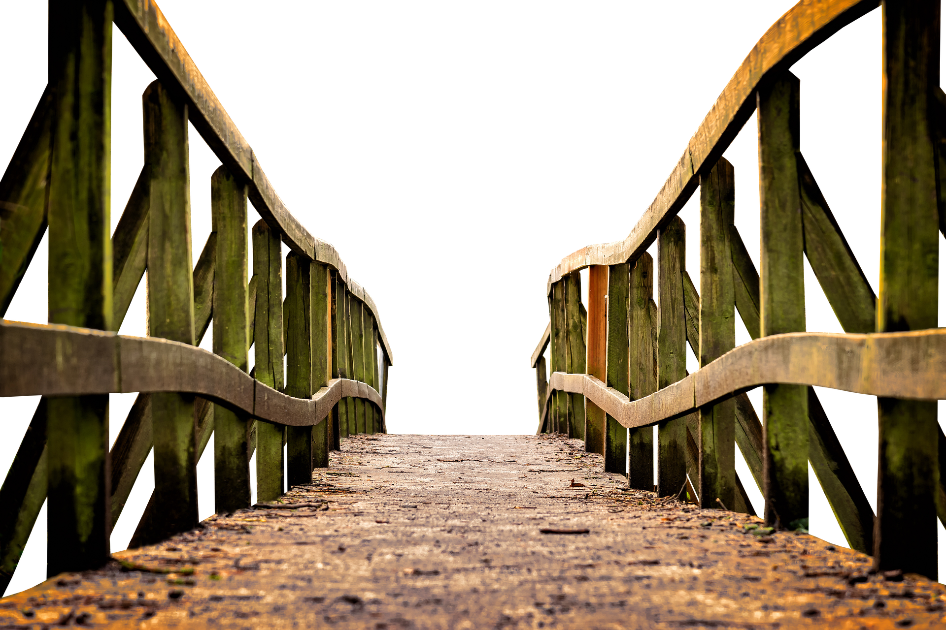 Picture of wooden bridge to afterlife